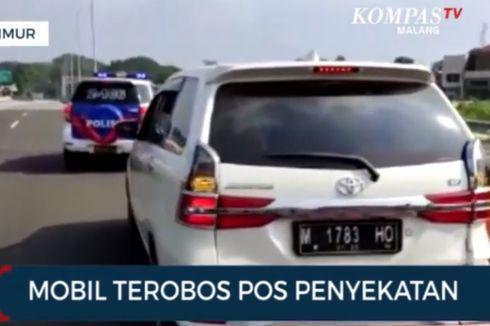 Bawa Anak Kecil, Sebuah Mobil Nekat Terobos Pos Penyekatan di Tol Madyopuro, Ini Ceritanya