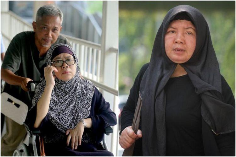 Zariah Mohd Ali dan suaminya, Mohamad Dahlan (foto kiri), yang telah dijatuhi hukuman penjara, masing-masing 11 tahun dan 15 bulan karena terbukti bersalah menganiaya seorang Tenaga Kerja Indonesia (TKI) di Singapura bernama Khanifah (foto kanan).