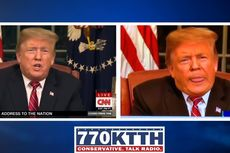 Stasiun Televisi Lokal AS Tayangkan Rekaman Pidato Trump yang Direkayasa