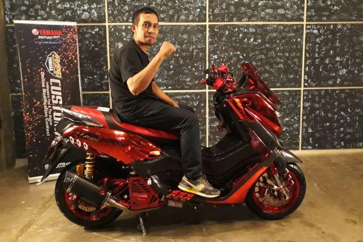 Yamaha NMAX Juku Eja menjadi pemenang Yamaha CustoMAXI Yamaha di Makassar.