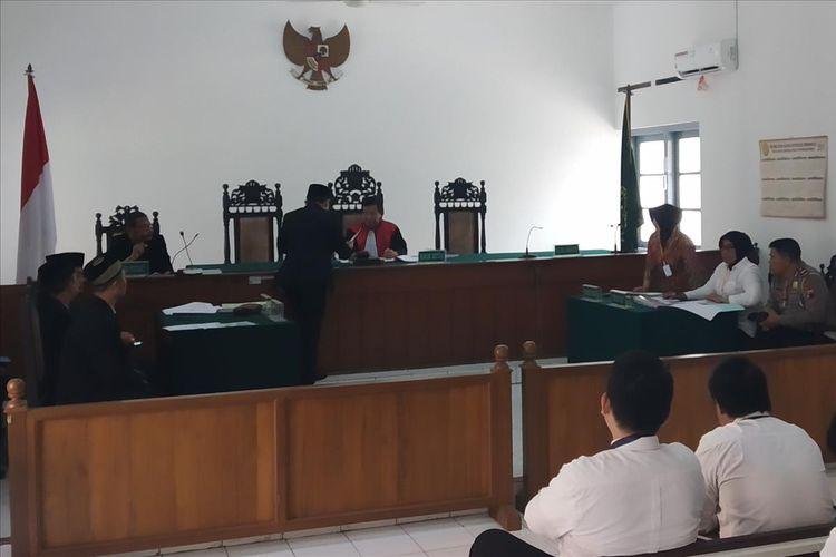 Sidang perdana gugatan praperadilan terkait persitiwa tabrak lari Overpass Manahan di Pengadilan Negeri Surakarta, Solo, Jawa Tengah, Senin (12/8/2019).
