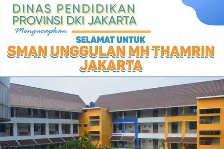 SMAN Unggulan M.H Thamrin Terbaik se-Indonesia Berdasarkan Nilai UTBK 2020