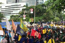 BEM Seluruh Indonesia Sampaikan 5 Tuntutan Saat Demo di Area Gedung Merah Putih KPK