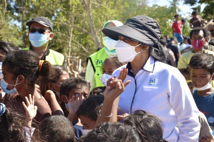 Menteri PPPA Bintang Puspayoga saat berkunjung ke Nusa Tenggara Timur (NTT), Senin (4/5/2021).