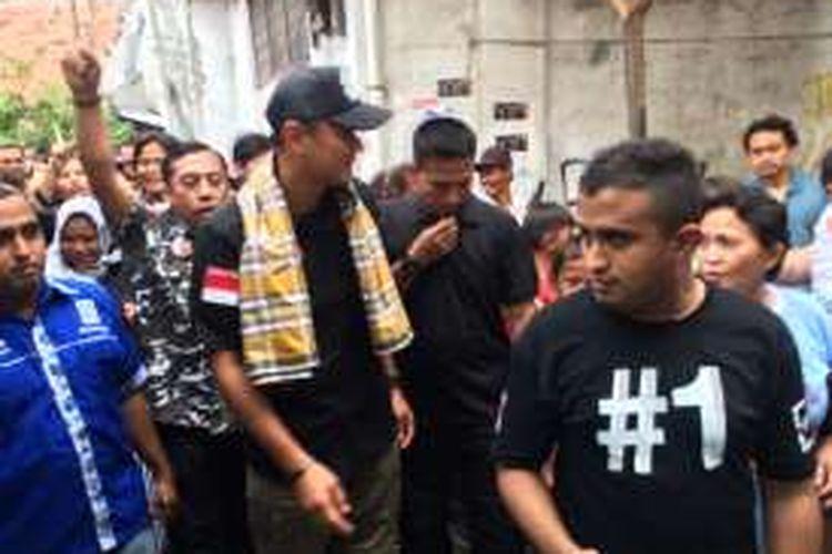 Cagub DKI Jakarta nomor pemilihan satu, Agus Harimurti Yudhoyono di Krukut, Jakarta Barat, Jumat (30/12/2016).