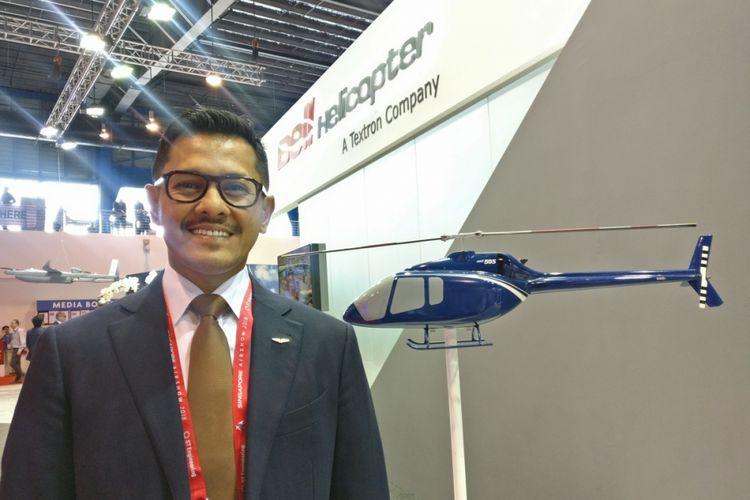 Denon Prawiraatmadja, CEO Whitesky Aviation di ajang Sigapore Airshow 2018.