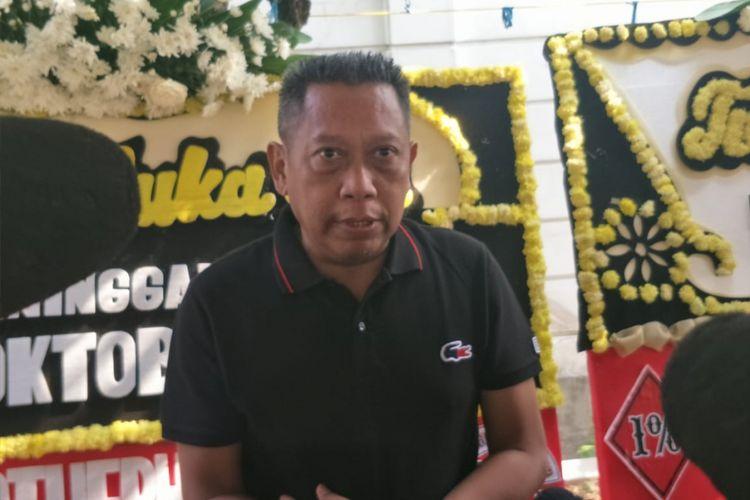 Tukul Arwana saat ditemui di rumah duka, di kawasan Pulogadung, Jakarta Timur, Rabu (10/10/2018).