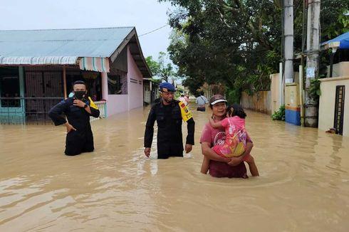 Banjir di Tebing Tinggi, Ribuan Rumah Terendam dan 114 KK Mengungsi