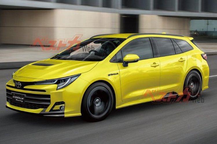 Ilustrasi Corolla GT-Four sebuah mobil versi kencang dari Corolla Touring.