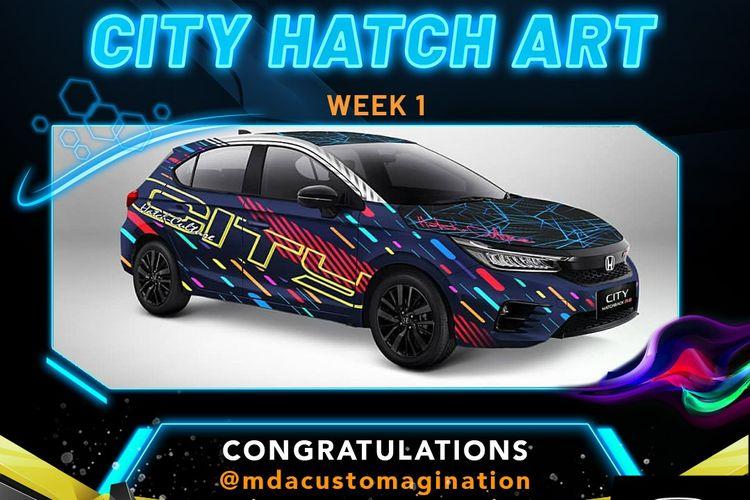 Pemenang weekly winner City Hatch Art, Dani Anggoro (Jakarta).