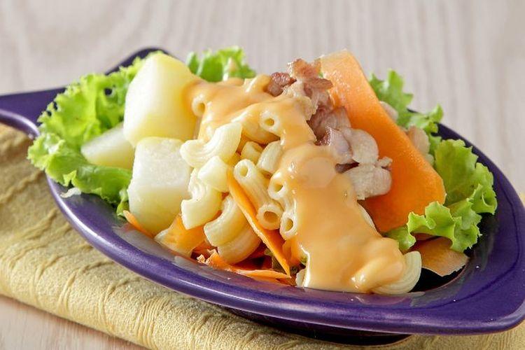 Ilustrasi salad kentang.