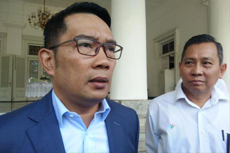 Gubernur Jawa Barat Ridwan Kamil saat ditemui di Gedung Pakuan, Jalan Otista, Rabu (3/7/2019).