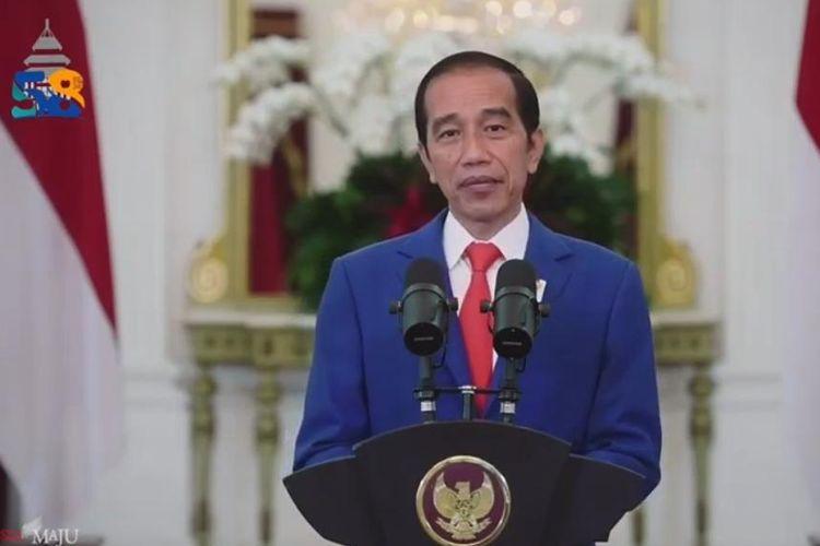 Presiden Jokowi Saat Memberikan Sambutan Virtual di Dies Natalies UB ke-58, Selasa (5/1/2020)