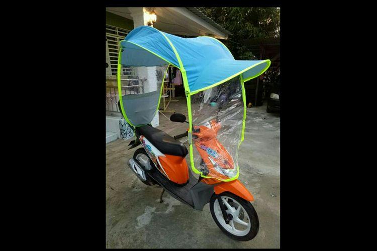 Patung khusus sepeda motor yang kini tengah dipasarkan di Malaysia.