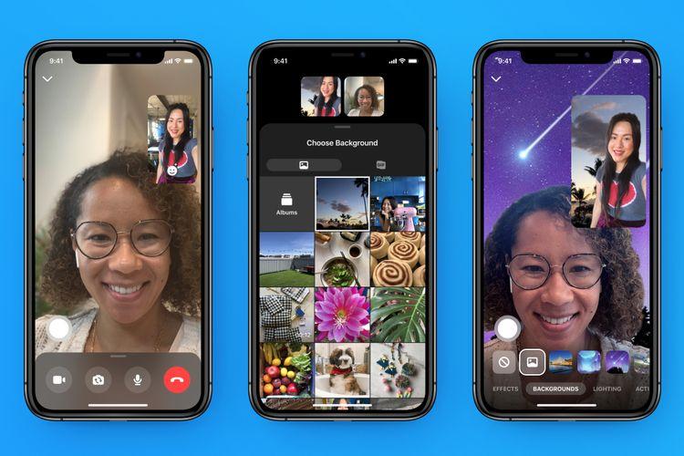 Facebook Messenger punya fitur untuk mengganti backgorund saat video call