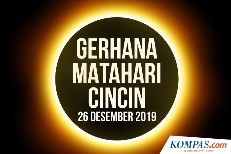 Gerhana Matahari Cincin 26 Desember 2019