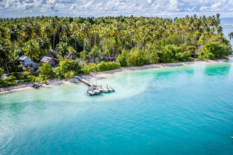 Ilustrasi salah satu pulau di Kepulauan Mentawai.