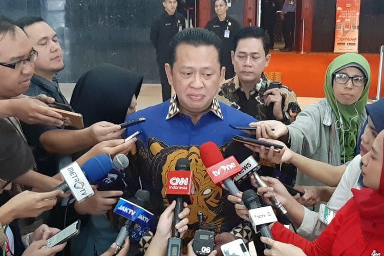 Ketua MPR RI Bambang Soesatyo di Kompleks Parlemen, Senayan, Jakarta, Selasa (15/10/2019).