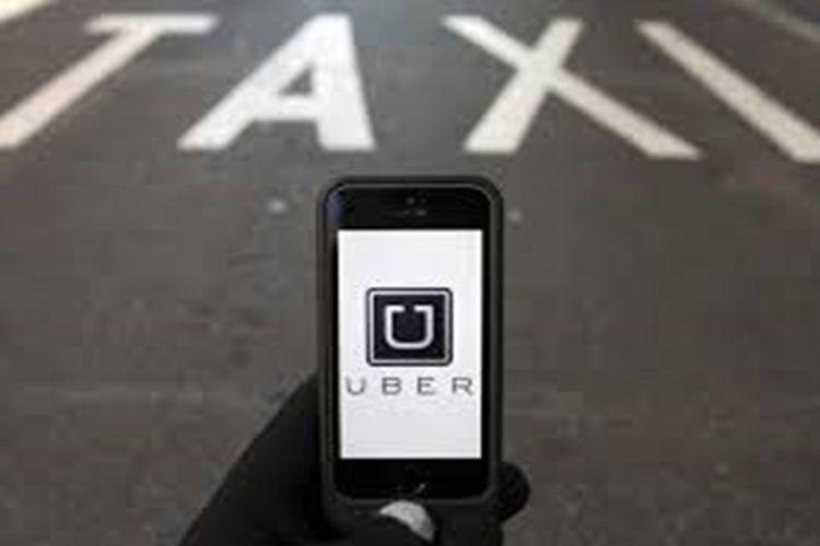 Ilustrasi taksi online Uber