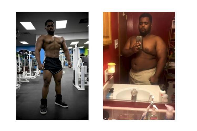 Quantel Thomas membuat resolusi untuk memulai gaya hidup sehat dengan berolahraga di pusat kebugaran dan menurunkan berat badan.