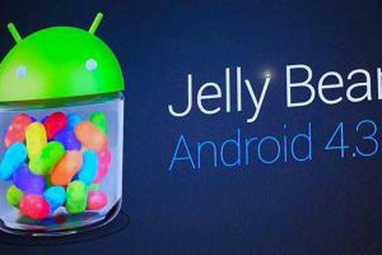 Sistem operasi Android 4.3, tetap memakai kode nama Jelly Bean.