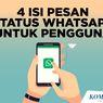INFOGRAFIK: 4 Isi Pesan Status Whatsapp untuk Pengguna