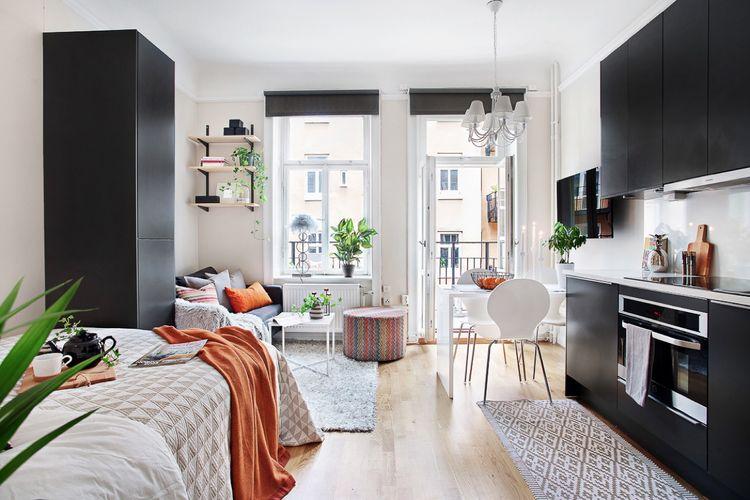 Ilustrasi interior apartemen.