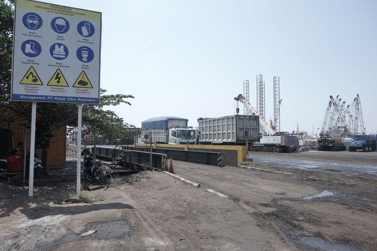 Aktivitas di Pelabuhan Marunda, Jakarta Utara, Sabtu (31/8/2019)