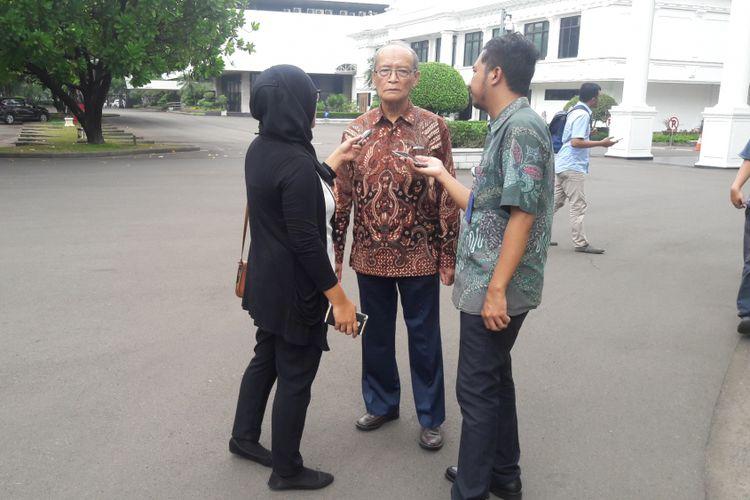 Anggota Dewan Pengarah Unit Kerja Presiden Pembinaan Ideologi Pancasila (UKP-PIP) Buya Syafii Maarif.