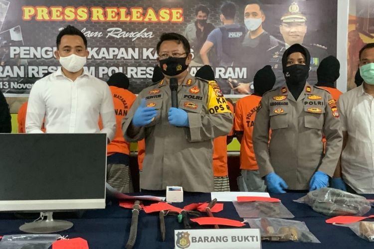 Polisi menangkap enam orang komplotan pencuri yang sudah beraksi di 67 TKP di Mataram.