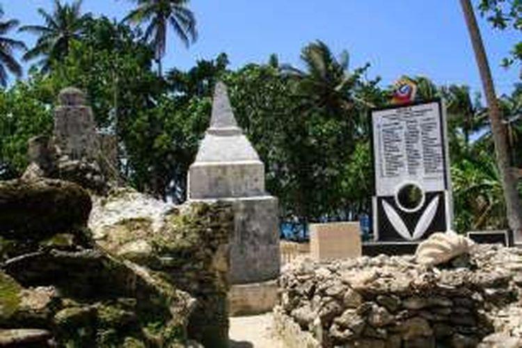 Komplek Pekuburan Raja-Raja Porodisa di Desa Bannada, Kecamatan Gemeh, Kabupaten Kepulauan Talaud, Sulawesi Utara.