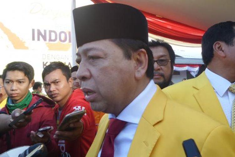 Ketua Umum Partai Golkar Setya Novanto di Kantor DPP Partai Golkar, Slipi, Jakarta Barat, Rabu (17/8/2016)
