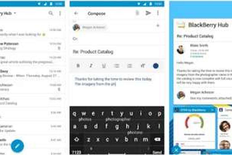 Aplikasi BlackBerry Hub di Android