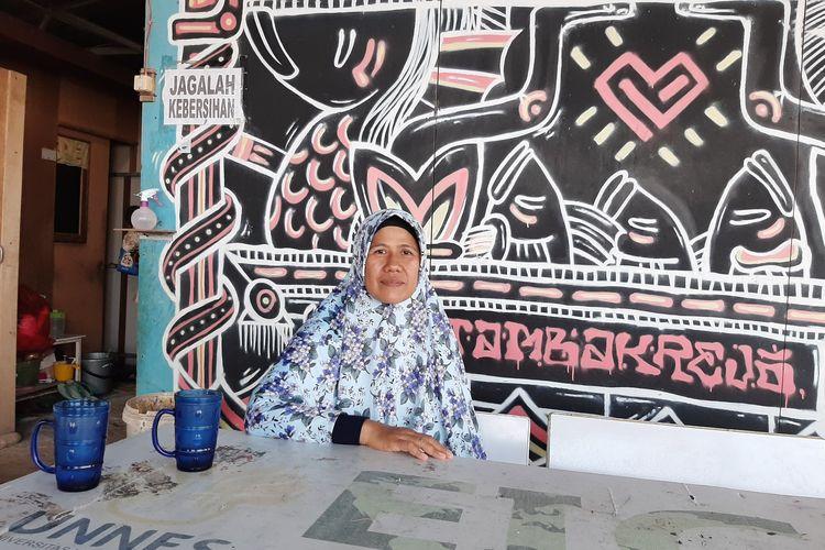 Fadilah warga Kampung Tambak Rejo saat ditemui Kompas.com