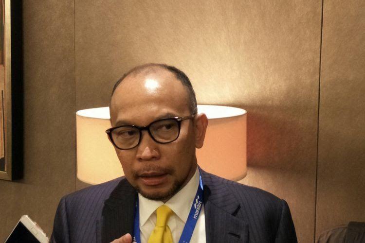 Pengamat ekonomi yang juga Mantan Menteri Keuangan Chatib Basri saat menjadi pembicara di acara Mandiri Investment Forum di Hotel Fairmount, Jakarta, Rabu (7/2/2018).