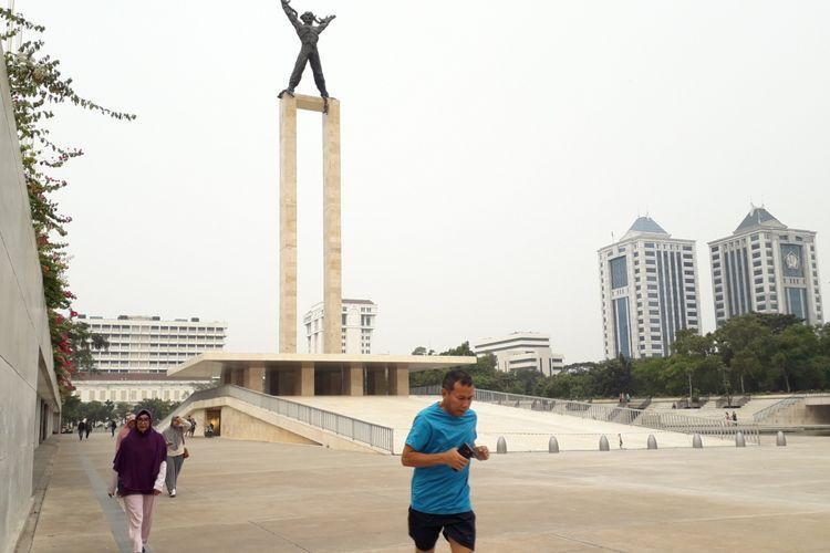 Wajah baru Bapangan Banteng, Jakarta Pusat. Foto diambil Senin (23/7/2018)