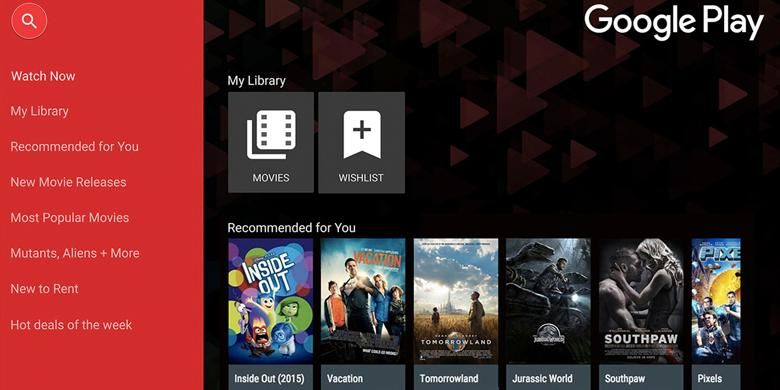 Google Play Movies & TV di TV LG