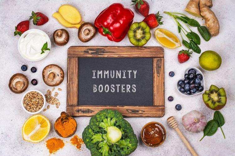 Ilustrasi makanan yang dapat meningkatkan sistem kekebalan tubuh