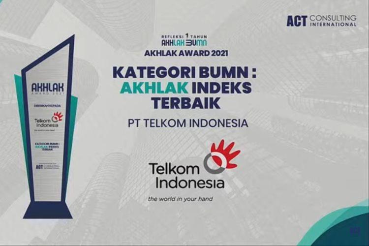 TelkomGroup menjadi juara umum dan memborong penghargaan di Ajang AKHLAK Award 2021.