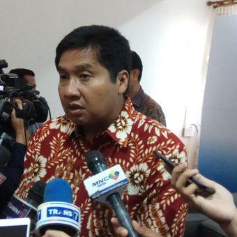Politisi PDI Perjuangan, Maruarar Sirait saat di kantor Saiful Mujani Research & Consulting (SMRC), Jakarta, Kamis (5/10/2017).