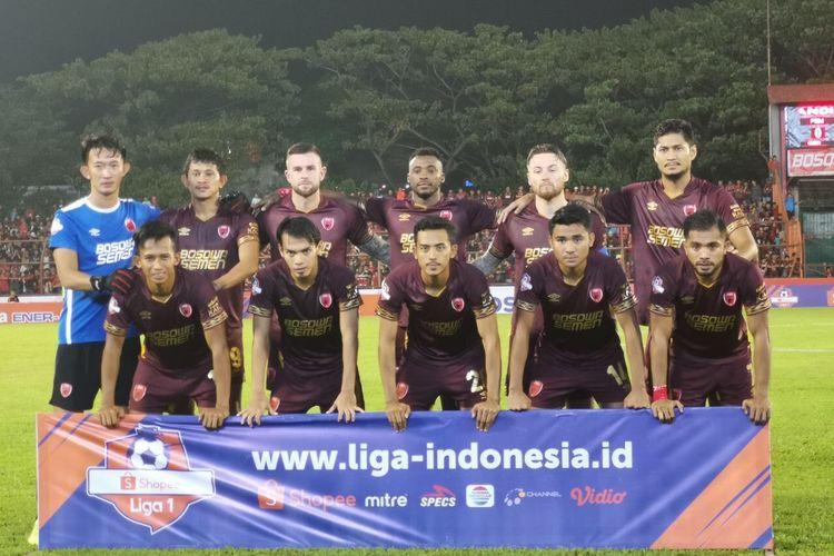 Skuad PSM Makassar pada laga versus Badak Lampung FC, 24 Mei 2019.