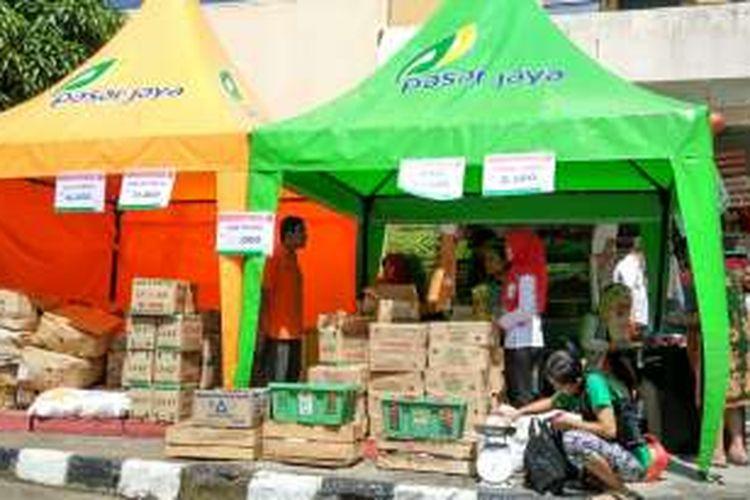 Operasi Pasar di Pasar Glodok, Jakarta Barat, Rabu (8/6/2016).
