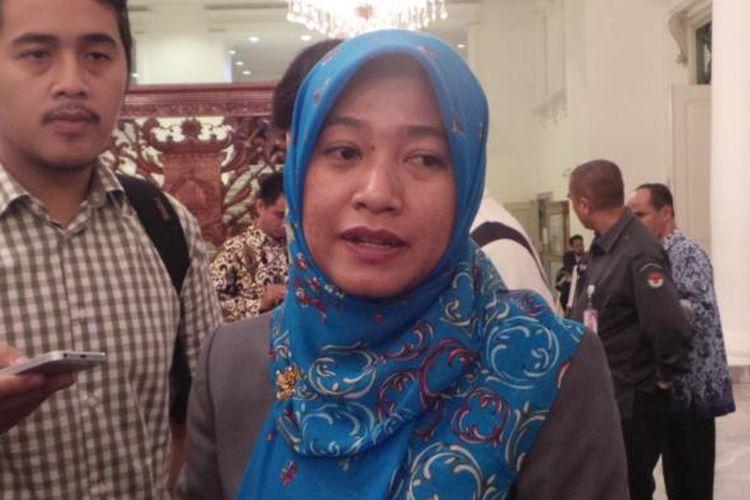Ketua Badan Pengawas Pemilu (Bawaslu) DKI Jakarta Mimah Susanti, di Balai Kota DKI Jakarta, Senin (19/9/2016).