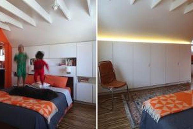 Ethan dan David memberikan arahan spesifik untuk arsitek Anne Barret dari 30E design. Mereka ingin mengubah loteng sebagai kamar tidur utama yang tidak terasa seperti tempat pengungsian. Keduanya ingin kamar yang mirip hotel butik.
