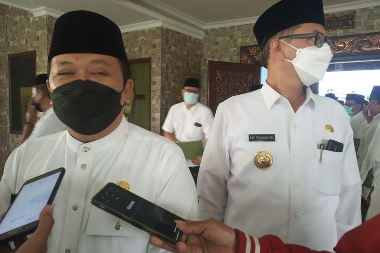 Bupati Jember Hendy Siswanto usai pelantikan pejabat di pendopo wahywibawagraha Jember Jumat (12/3/2021)