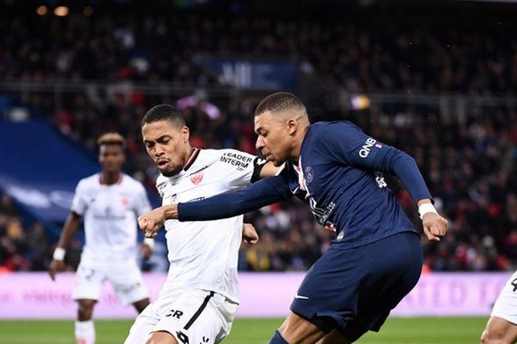 Kylian Mbappe pada laga PSG vs Dijon, Sabtu (29/2/2020) malam WIB.