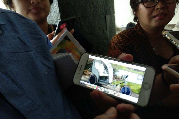 Desain becak yang sedang dirakit Wakil Ketua DPRD DKI Jakarta M Taufik.