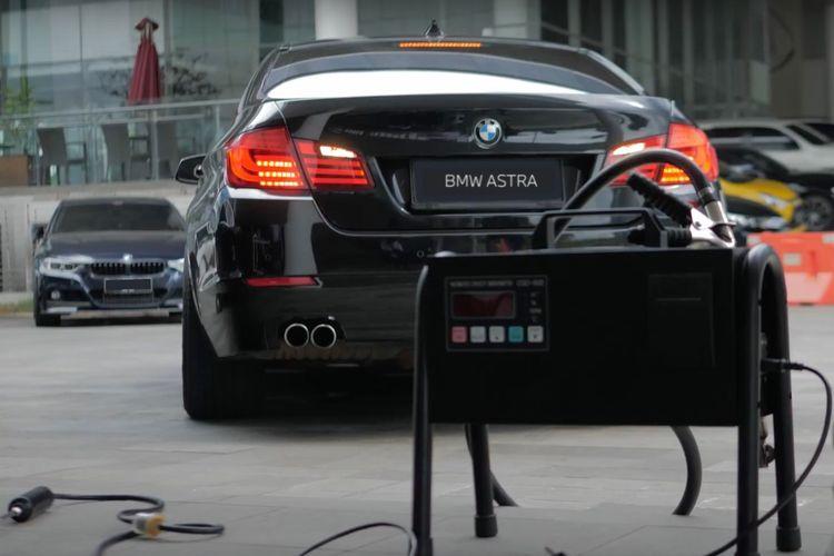 Uj emisi bengkel BMW Astra