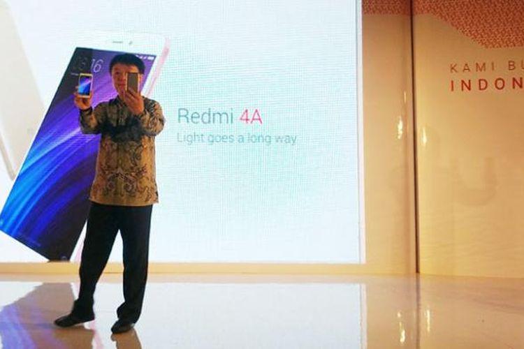 Ponsel Redmi 4A menandai kembalinya Xiaomi ke Indonesia. Acara peluncuran digelar di Jakarta, Jumat (10/2/2017).