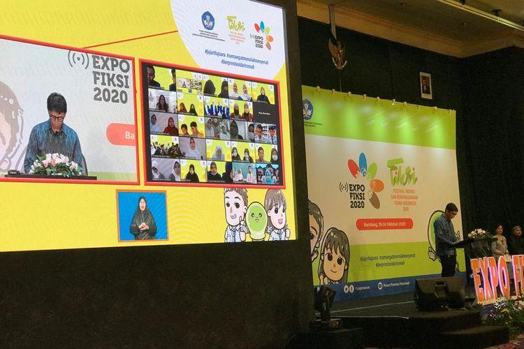 Penutup Festival Inovasi dan Kewirausahaan Siswa Indonesia (FIKSI) 2020 melalui video virtual di Bandung, pada Jumat (23/10/2020).